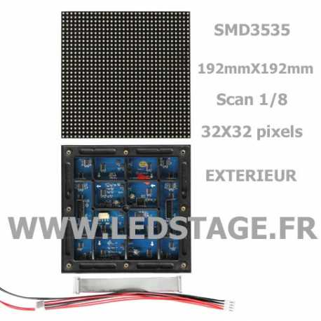 MODULE LED P6 (pitch 6mm) 192mm X 192mm IP65 outdoor