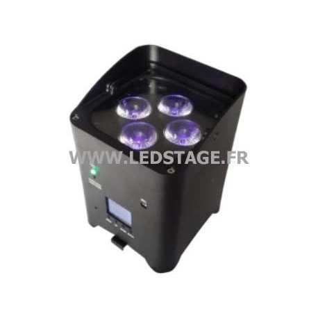 Projecteur de décoration sur batterie 72W RGBWA+UV DMX HF et wifi