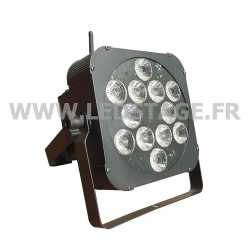 PAR LED PLAT RGBWA+UV 6 in 1 12x18W DMX Sans fil (DMX HF)