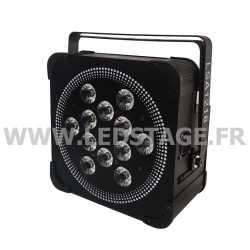 PAR LED PLAT Autonome sur batterie RGBW 4 in 1 NOIR