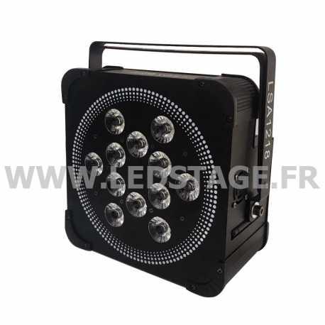 PAR LED PLAT Autonome sur batterie RGBW 4 in 1