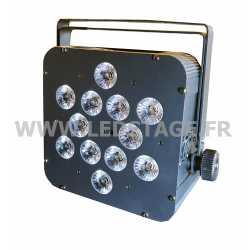 PAR LED PLAT Autonome sur batterie RGBWA+UV 6 in 1 NOIR